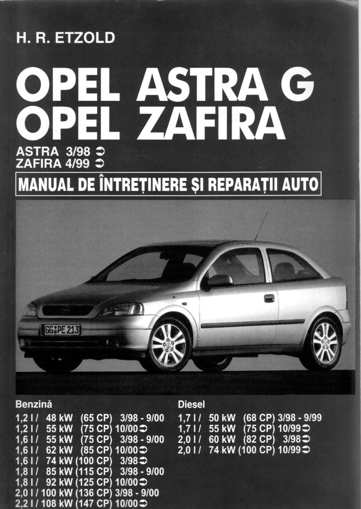 Astra G Zafira Etzold Service Manual Pdf  86 7 Mb